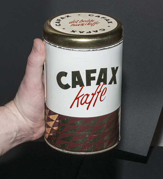Vintage coffee tin from early 1960's Denmark