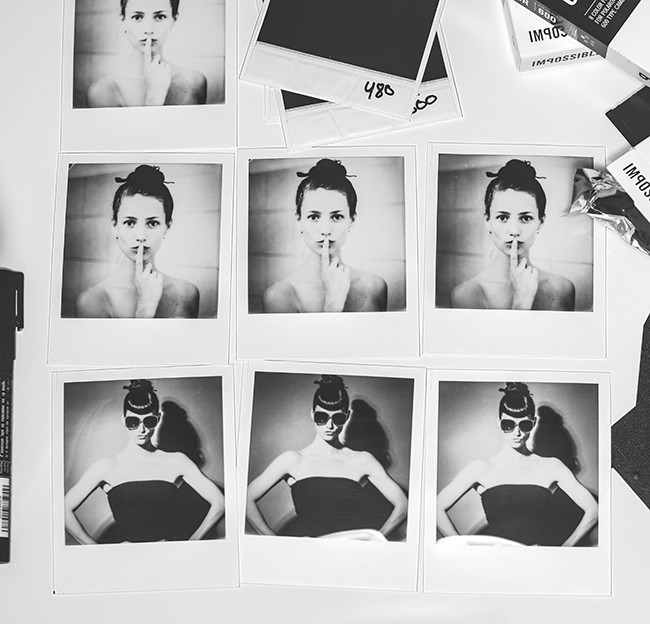 Model polaroids of Mette Beate on Impossible 600 instant film by Lars Brandt Stisen, Berlin