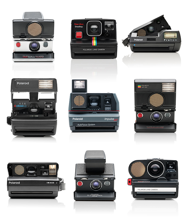 Product photography - Polaroid instant camera collection by Lars Brandt Stisen, MADDOCMAN Berlin