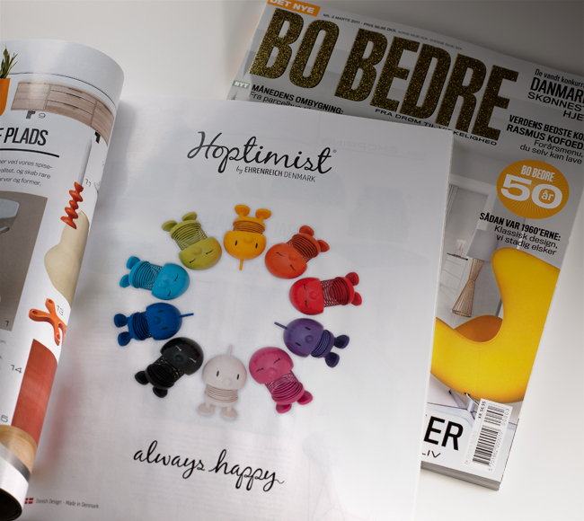 Colored Hoptimist's in Scandinavian magazine Bo Bedre