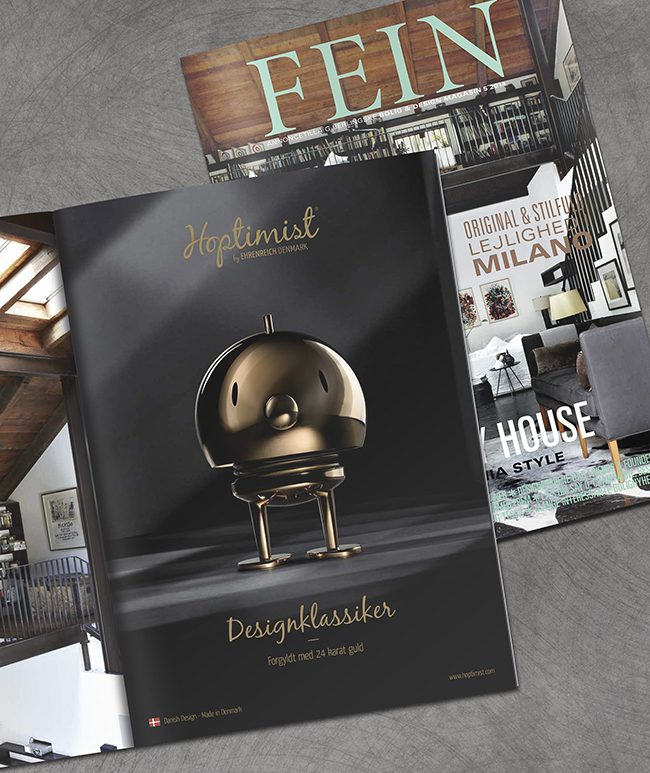 24k Gold Hoptimist Bumble in FEIN Magazine of Denmark