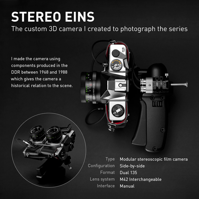 Custom made stereoscopic 3D film camera