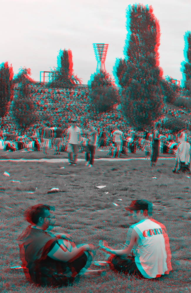 Sunday in Mauerpark - Stereoscopic 3D anaglyph