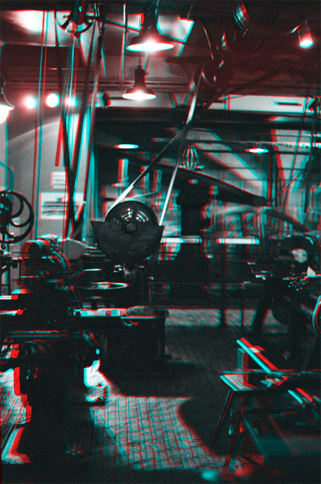 Metal works at Gleisdreieck - Stereoscopic 3D anaglyph