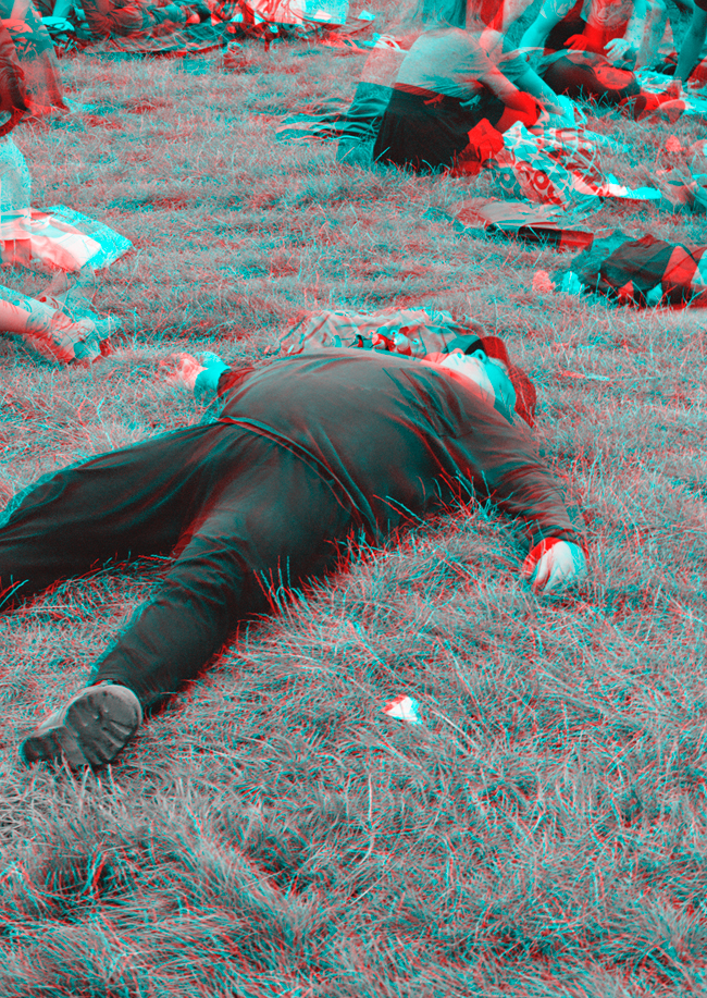 Parklife, Mauerpark - Stereoscopic 3D anaglyph