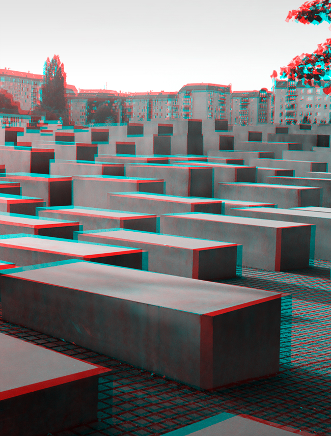 Towards the bunker - Stereoscopic 3D anaglyph