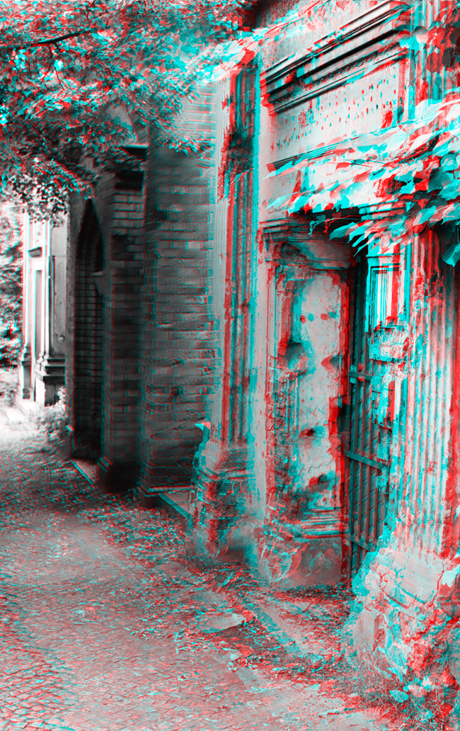 Traces of war - Stereoscopic 3D anaglyph