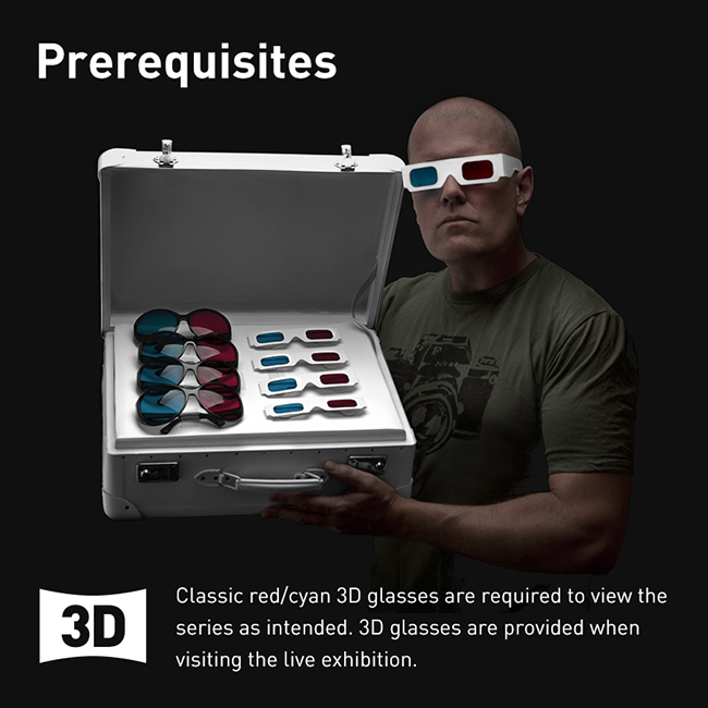 Prerequisites red/cyan stereoscopic 3D glasses