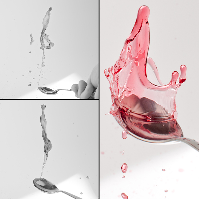 Photographing splashing liquids - Beverage advertising campaign Berlin