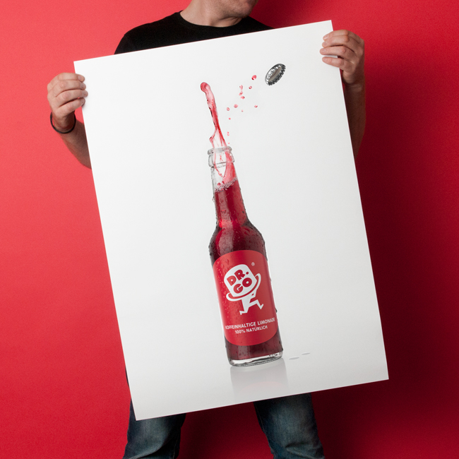 Limonade bottle poster - Beverage advertising campaign Berlin