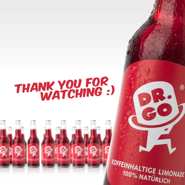 Thank you for watching - Lemonade beverage advertising campaign Berlin